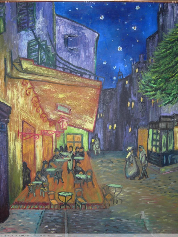 La Terraza Del Cafe Por La Noche Cristina Bernal Rodriguez