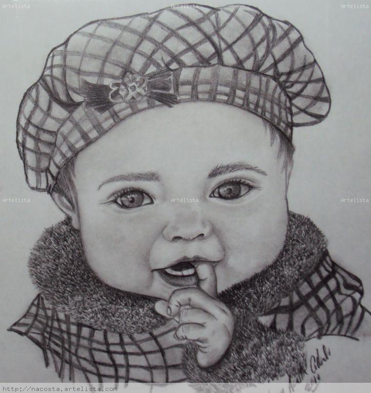 Mi primer dibujo los dibujos mas reales de bebes - Dibujos pared bebe ...