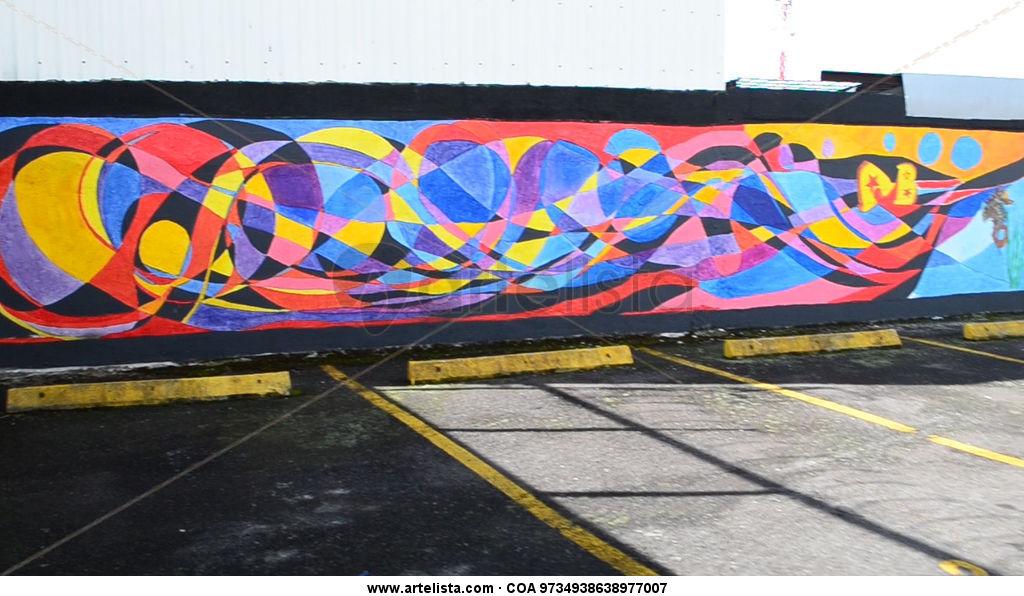 Mural biblioteca p blica goicoechea javier arturo mar n for Definicion de pintura mural