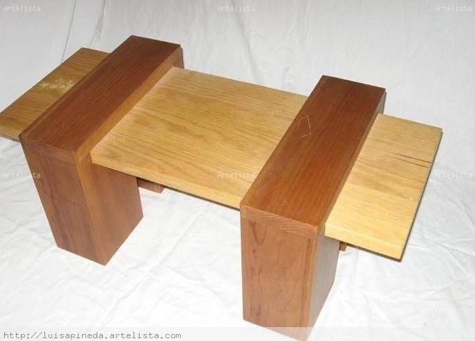 Mesa ensamble luisa pineda for Cosas con tarimas de madera