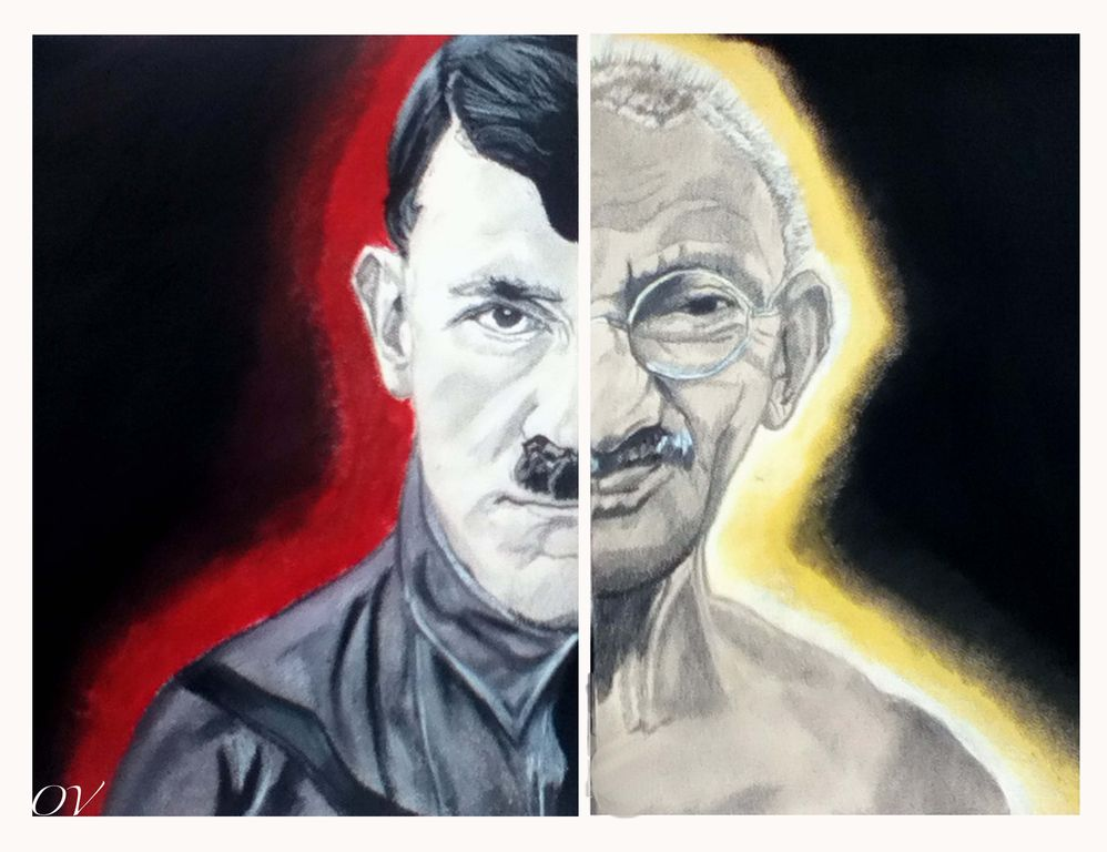 a comparison of adolf hitler and mahatma gandhi Are mohandas gandhi and adolf hitler gandhi was mainly known for  essay  on a comparison between hitler and mussolini comparison.
