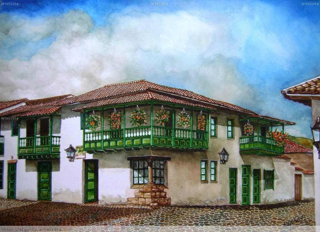Casa Colonial De Villa De Leyva Carlos Alberto Gonz Lez Da
