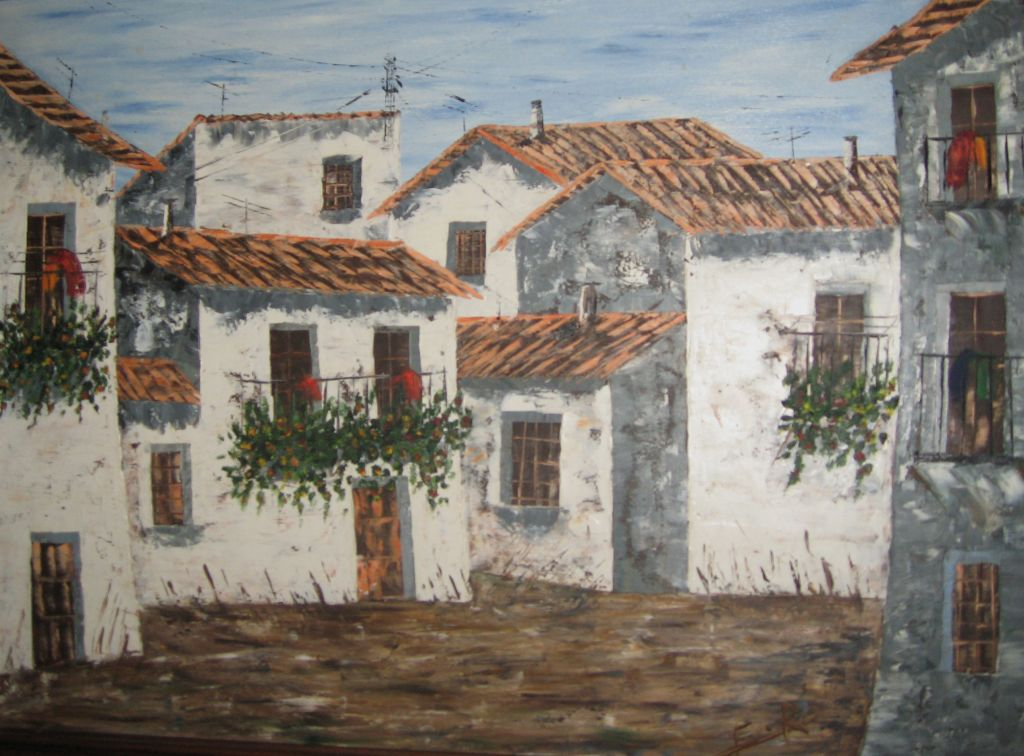 Casas blancas eduardo rosado marcos - Cuadros en casa ...
