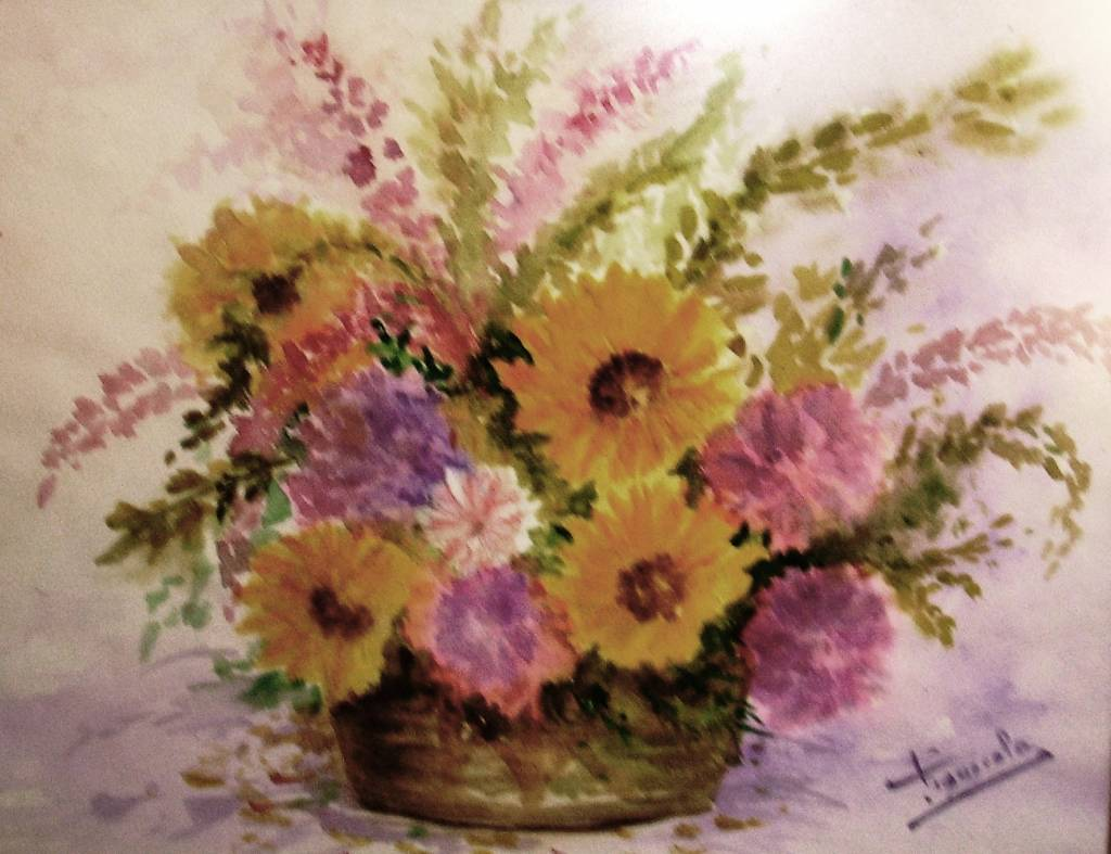 Centro de flores secas maria dolores figuerola figuerola - Arreglos florales con flores secas ...