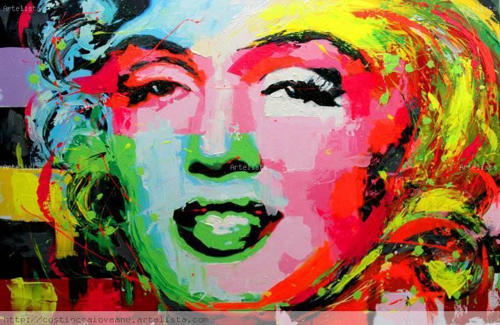 Marilyn monroe costin craioveanu en for Imagenes de cuadros abstractos famosos