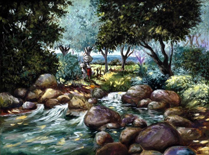 Obra de arte del paisajista dominicano Carlos Grullón