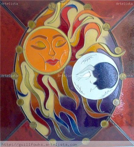 Dibujos en vitral de amor - Imagui
