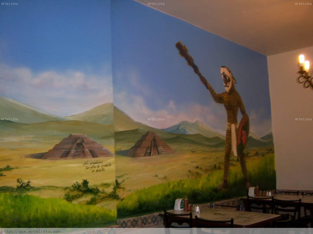 Murales decorativos gustavo vilchis lopez for Murales decorativos paisajes