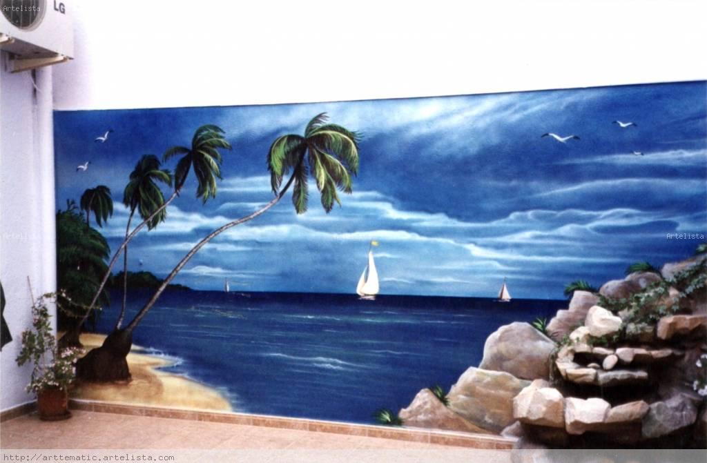 Mar Pintura En Pared De Terraza Juan Gallego García