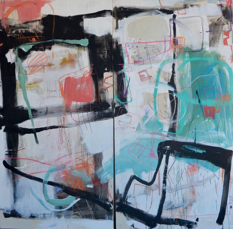 Caos de colores Canvas Acrylic Others