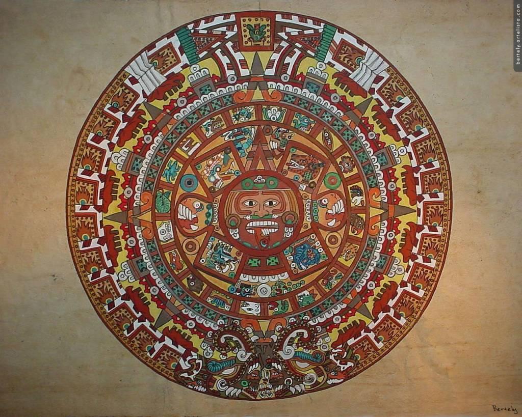 Calendario Azteca Gouache Otros Otros