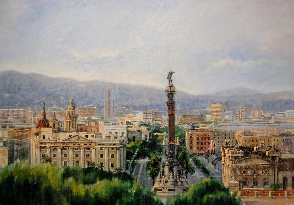 Barcelona 2016 Paisaje Lienzo Óleo
