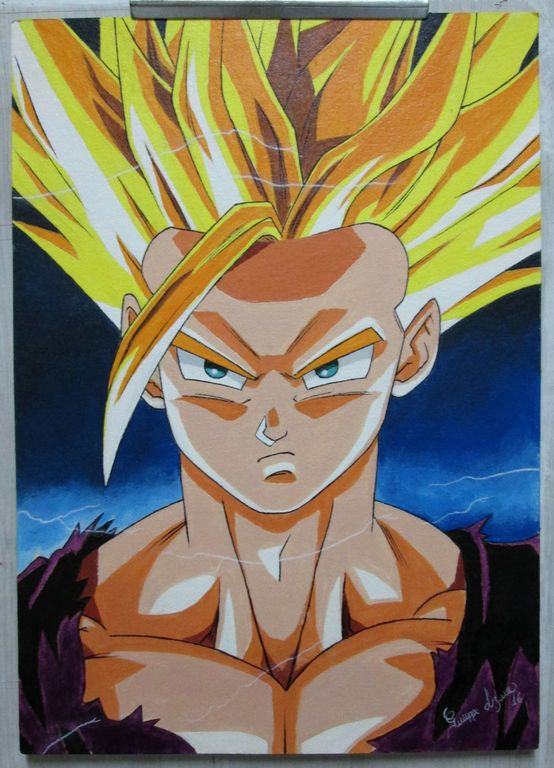 Pintura Gohan Dragon Ball Z Giuseppe Lozano Nieto Artelista Com