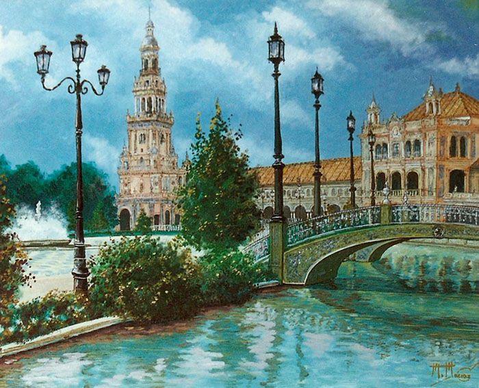 Sevilla plaza de espa a manuel macias avila for Todo pintura sevilla