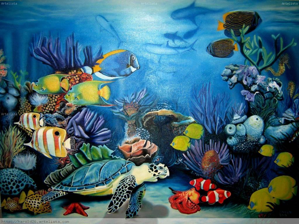 Paisajes campesinos colombianos oleo car interior design for Mural hidupan laut