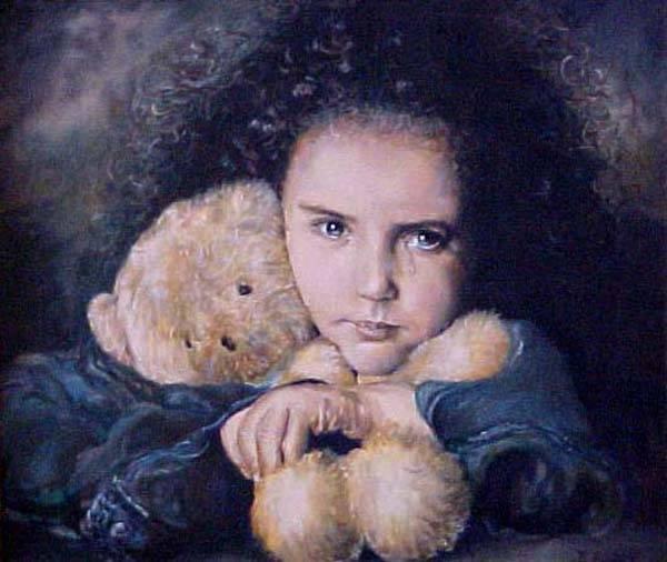 niña triste Dorian Florez- Artelista.com