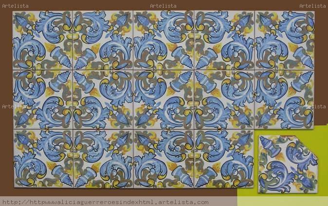 Reposici n de azulejos antiguos alicia guerrero n ez for Azulejos clasicos