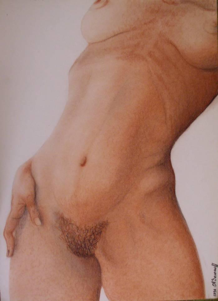 Desnudo femenino de cerca