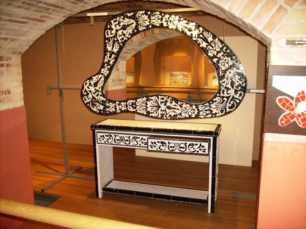 Espejo y mueble recibidor mario albi ana andr s for Espejos originales recibidor