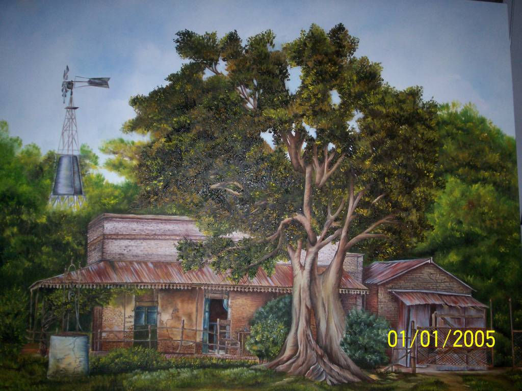 Casa de campo artesaniasmyestilo - Cuadros de casas de campo ...
