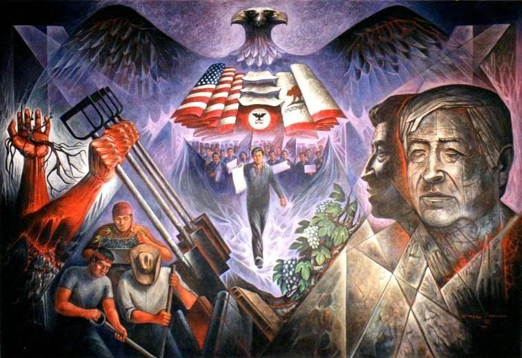 Cesar chavez mural carlos ordu a barrera en for Cesar chavez mural