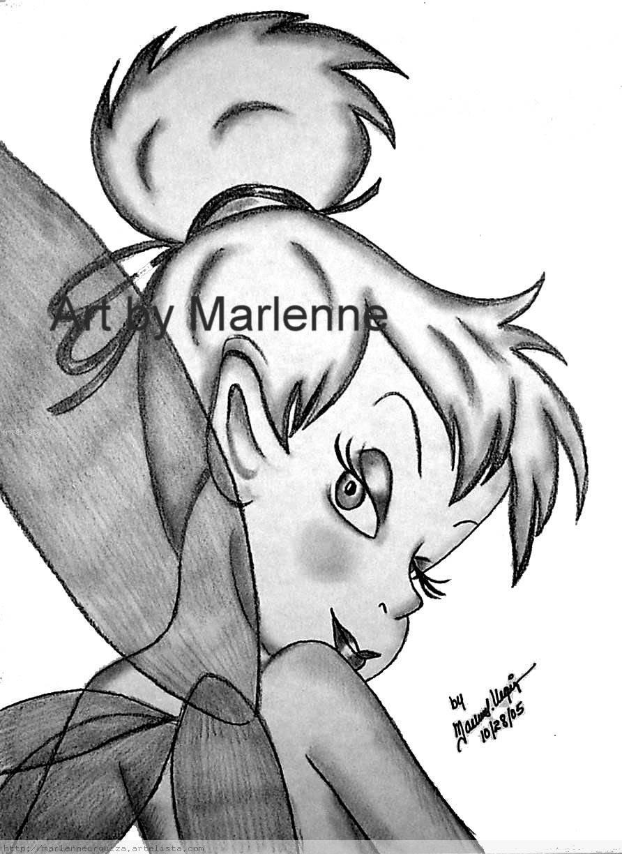 Tinker Bell Original Pencil Art