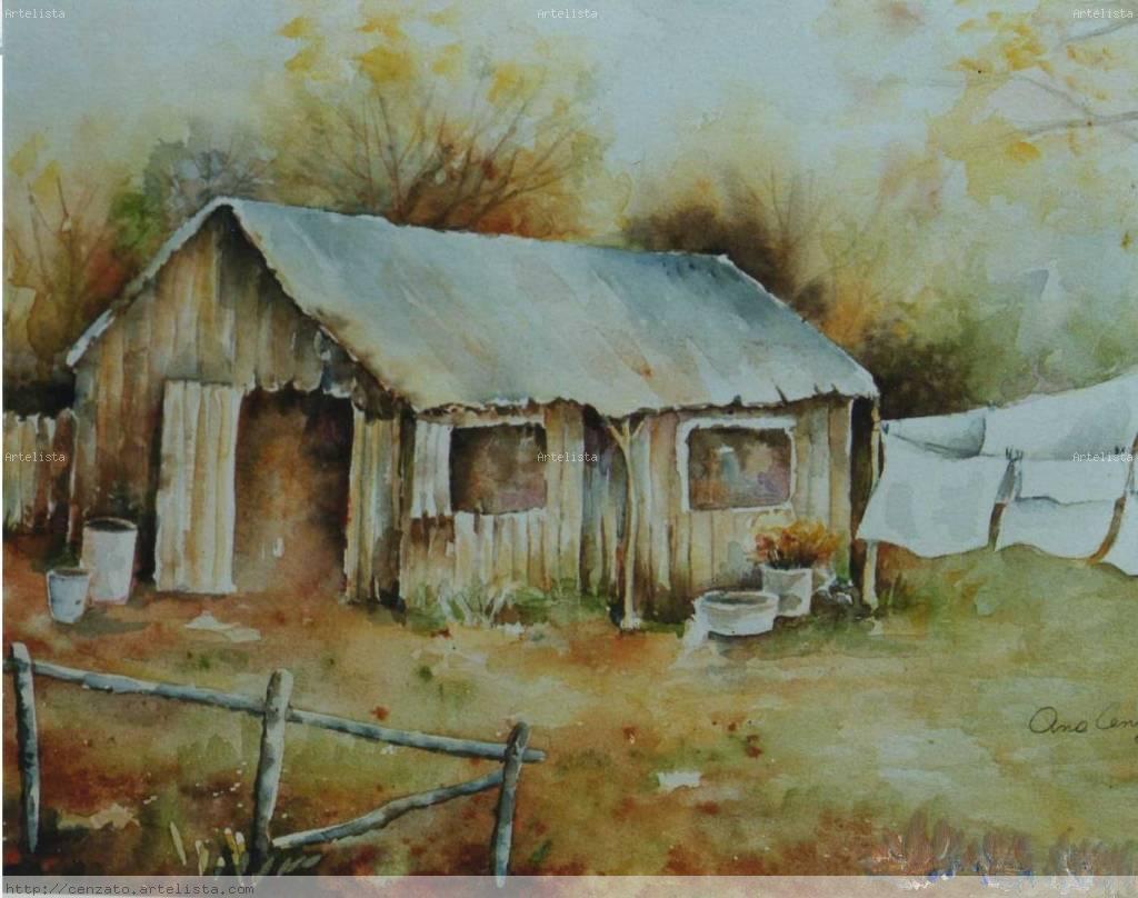 Casa de campo ana cenzato for Pinturas para casas de campo