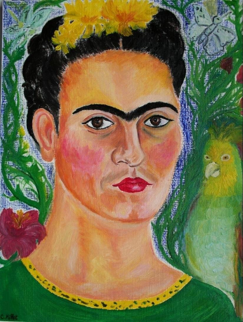 retrato de frida kahlo en icono zapoteco cindy millet. Black Bedroom Furniture Sets. Home Design Ideas