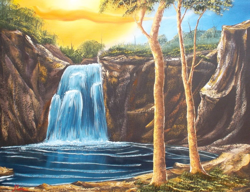 Cascada Azul Jesus Anibal Madrigal Trujillo Artelista Com
