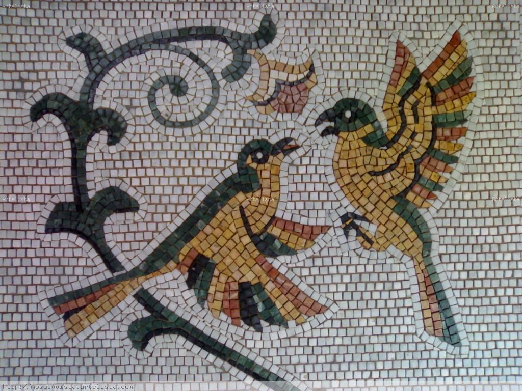 pajaros, mosaicos mohamed tarhouchi - Artelista.com - en: www.artelista.com/en/artwork/5574628381035704-pajarosmosaicos.html