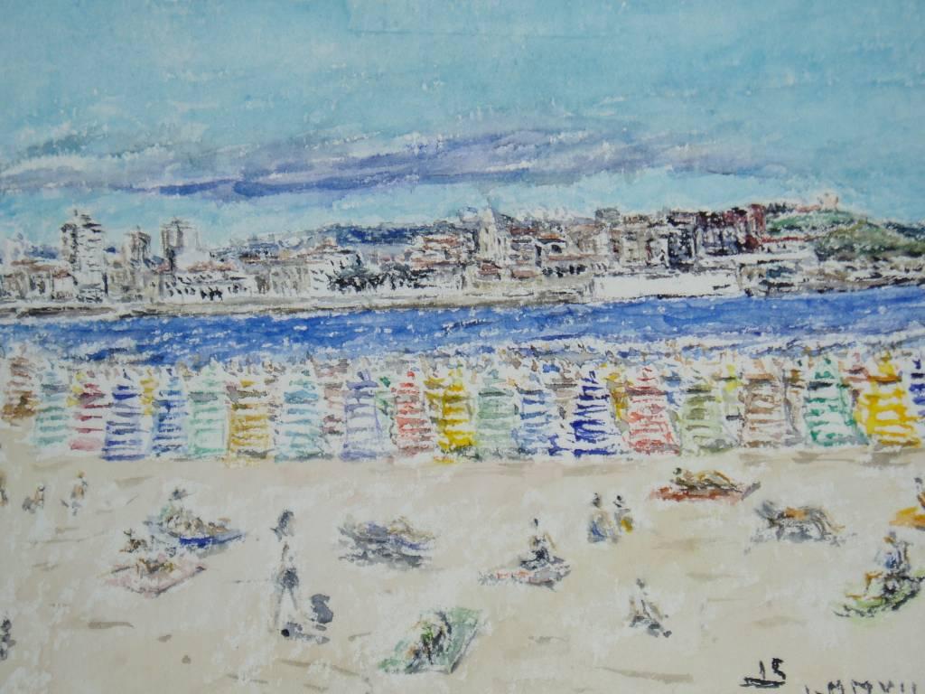 Casetas playa gijon juan serrera ranero - Pintores en gijon ...
