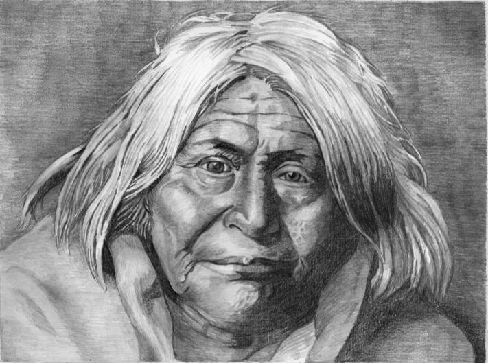 Dibujos de indios a lapiz  Imagui