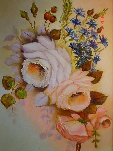 Rosas Branca e Rosa José Maria Machado - Artelista.com