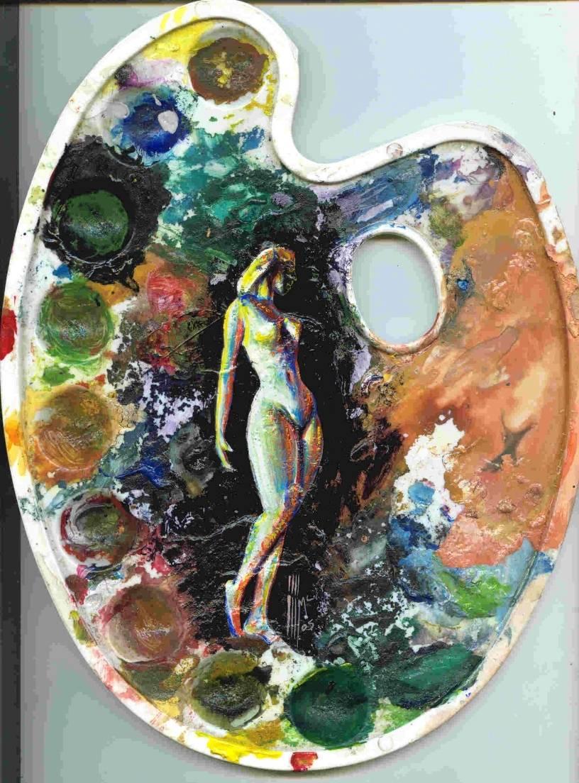 Paleta con pintura johnny mcdonald cel 9983 4434 pintores - Paleta de pinturas ...
