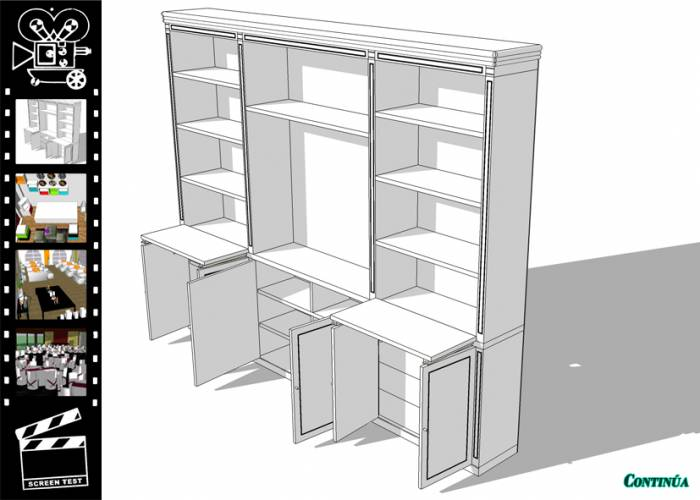 Biblioteca en 3D Delfina Alemán  Artelistacom