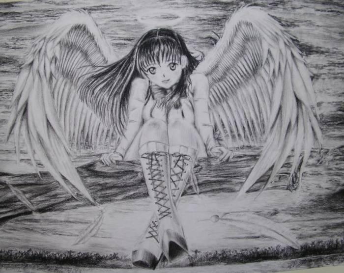 Angel dibujos a lapiz - Imagui