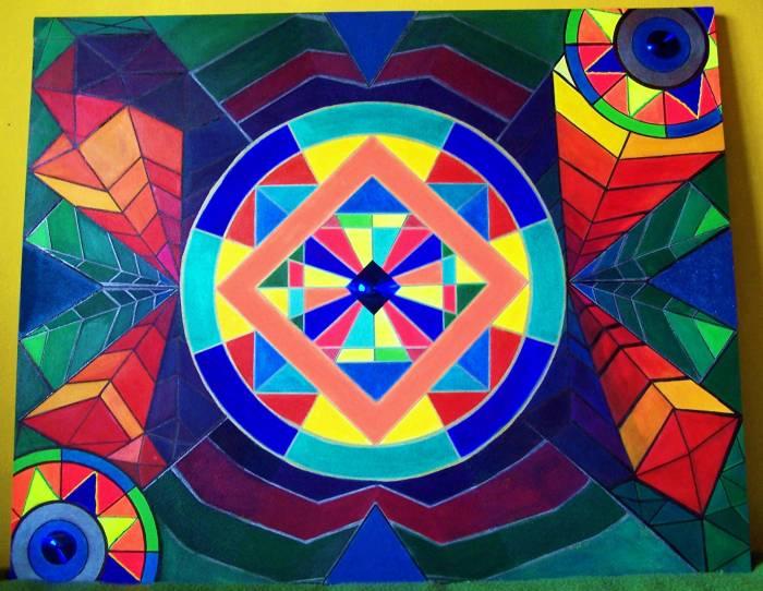 Uno fabiana yusco for Cuadros con formas geometricas