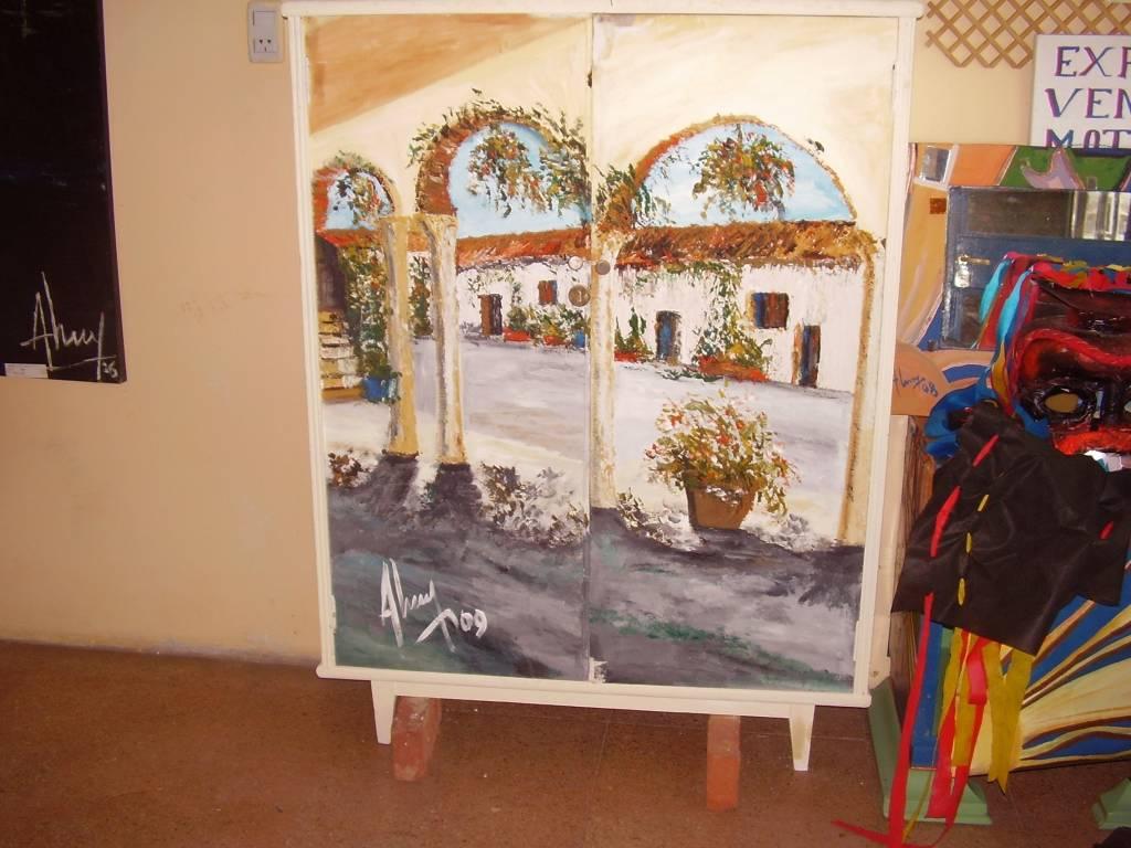Mueble pintado a mano alejandro alberto torrado alarcon - Muebles decorados a mano ...