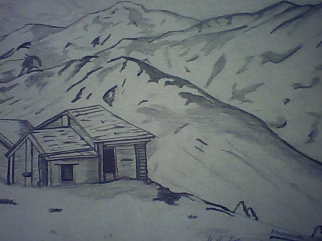 dibujos a lapiz paisajes: