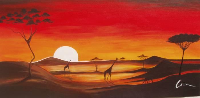 Pinturas de paisajes africanas - Imagui