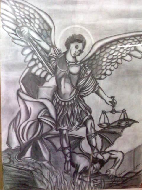 san miguel arcangel drawing