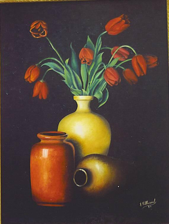 bodegón con flores maria elena villarreal figueroa - Artelista.com