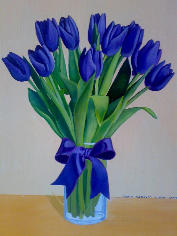 Tulipanes Flores Azules