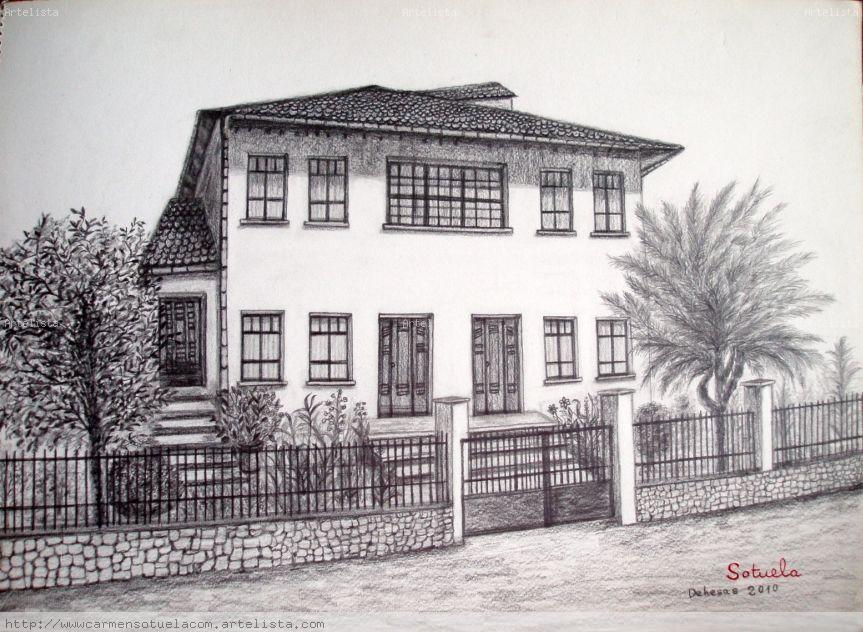 El bierzo dehesas dibujo a l piz carmen rodriguez sotuela - Casas dibujadas a lapiz ...