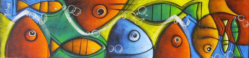 Cuadros de peces abstractos imagui - Cuadros con peces ...