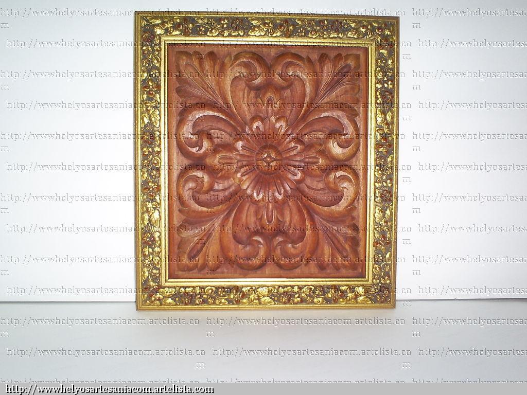 plafon tallado con marco dorado. HELYOS torralba aguado - Artelista.com