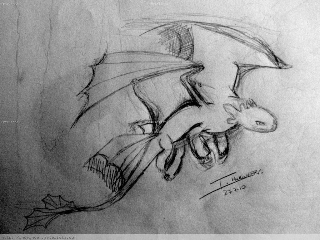 Boceto Furia Nocturna Cómo Entrenar A Tu Dragón Inma Horinger