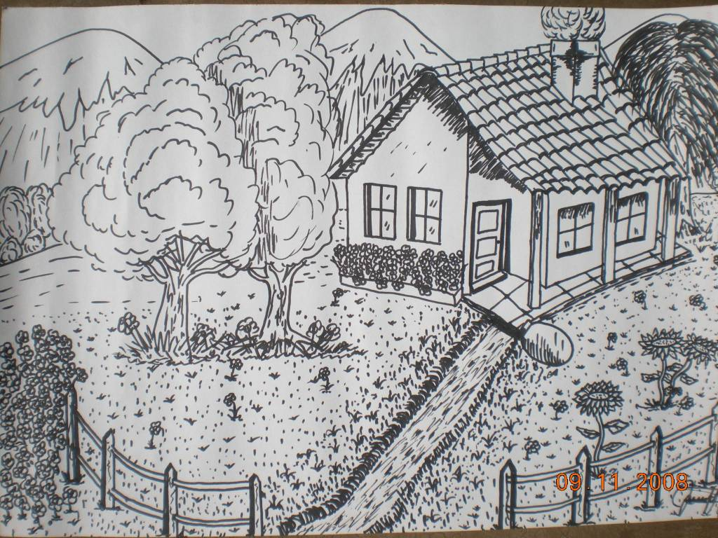 Dibujos Para Colorear De Casas De Campo: Dibujos De Casas De Campo