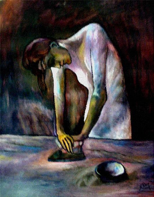 """Homenaje a Picasso. """"La Planchadora"""" María Rey ArtPaintings ..."""