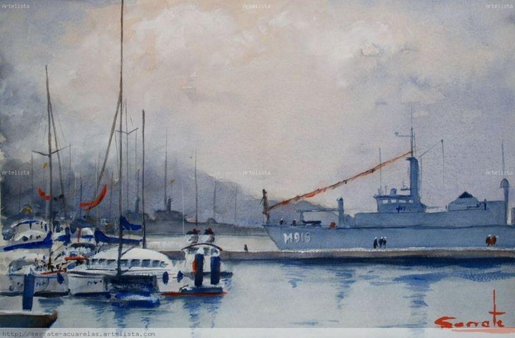 Puerto de cartagena 2 agustin serrate fece - Pintores en cartagena ...